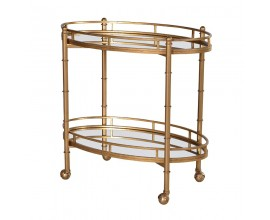 2 Tier Mirr.Serving Trolley